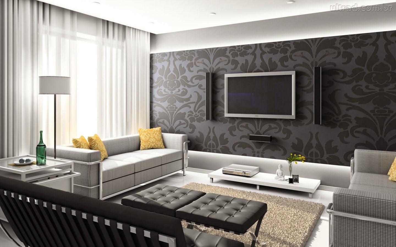 Painel De Tv Embutido Sala Com Parede Revestida De Madeira Fazendo  -> Sala De Tv E Som