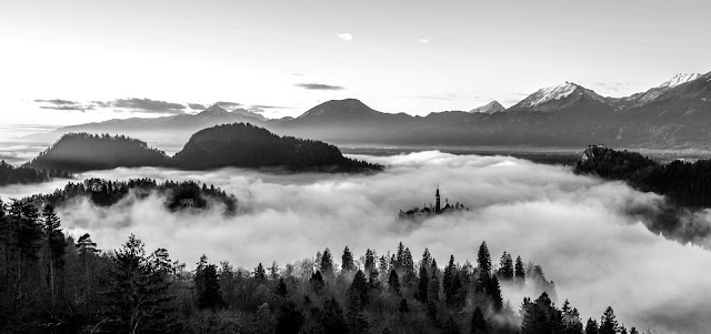 Mountains Landscapes black and white photography
