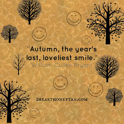 Autumn, the year's last loveliest smile William Cullen Bryant