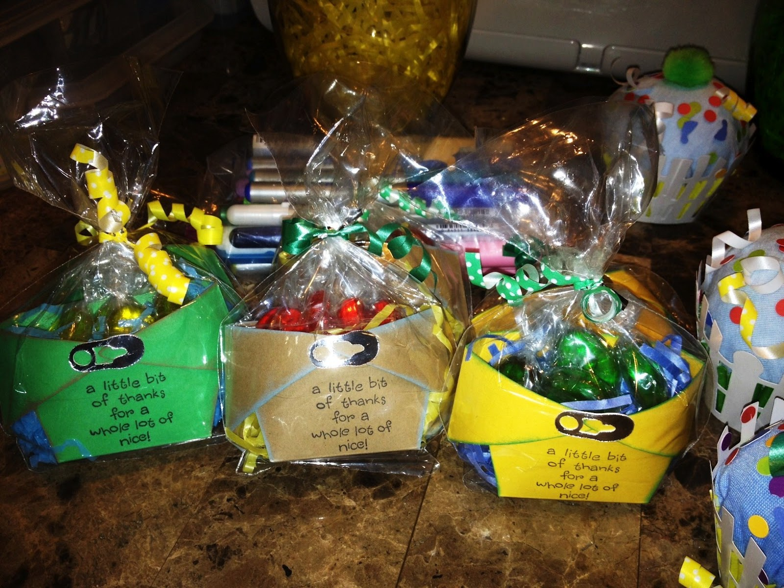 LMCreations-She Cave: John Deere Baby Shower Diaper Favors