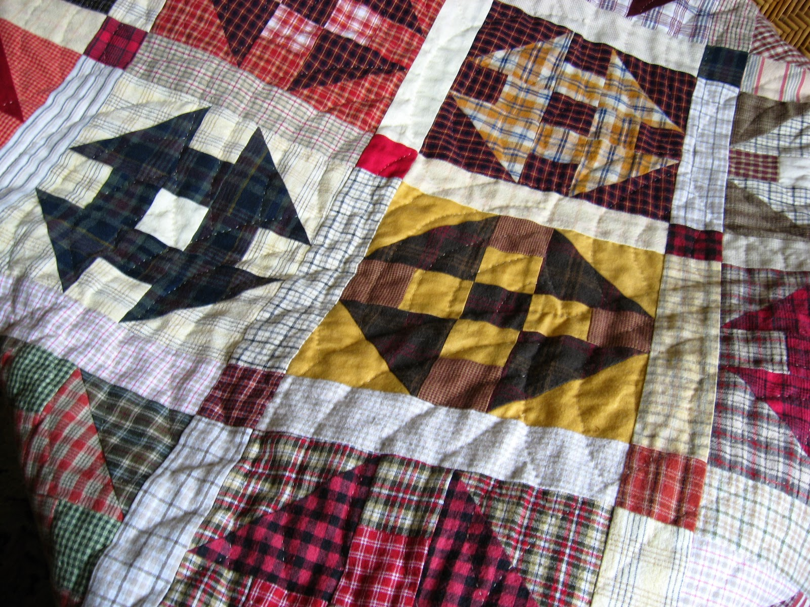 quilt from plaid shirts