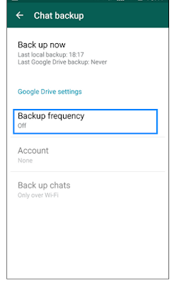 Whats App Backup Frequency