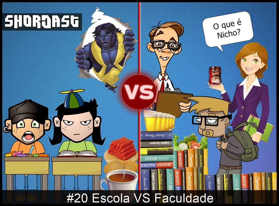 Shortcast #20 - Escola VS Faculdade