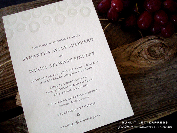 Adventures In Letterpress – Custom Wedding Invitations Canada