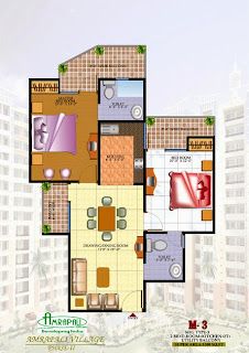 Amrapali village-II :: Floor Plan