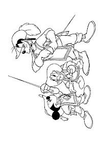 Desenhos Para Colorir pateta mickey mouse e pato donald