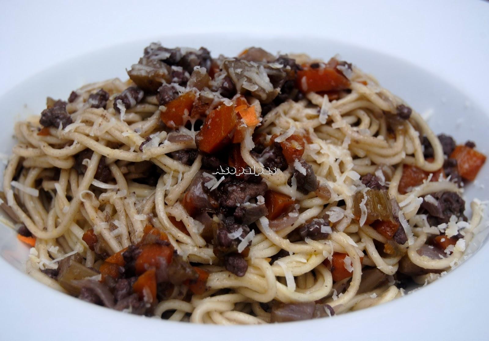 Espaguetis con Ragú de Pato a la Veneciana