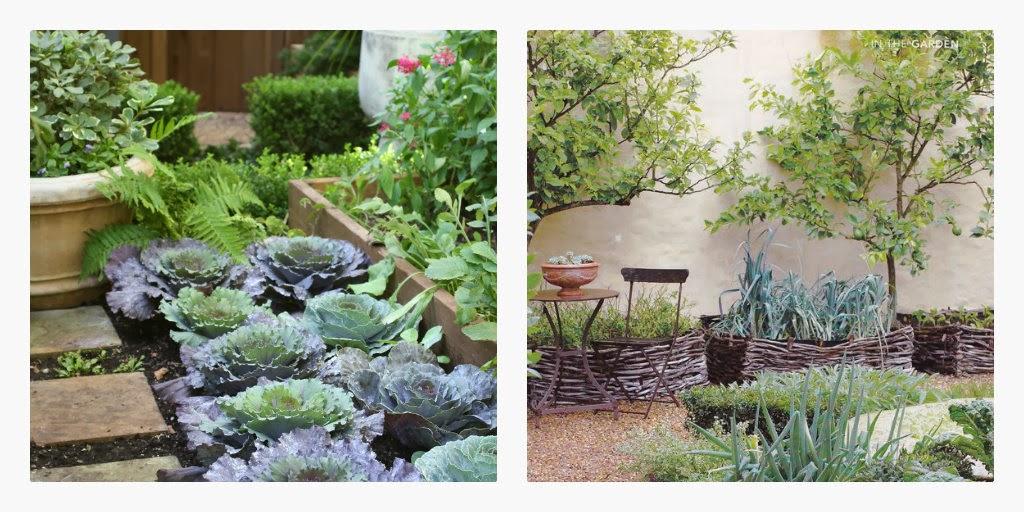 køkkenhave design, køkkenhave design træ og sten, køkkenhave opdeling, dekorativ køkkenhave, potager