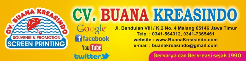 Buana Kreasindo - Payung - Souvenir Cinderamata Reklame Promosi - Percetakan - Sablon