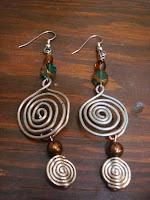 Double Swirled Metal Earrings by hotGlued