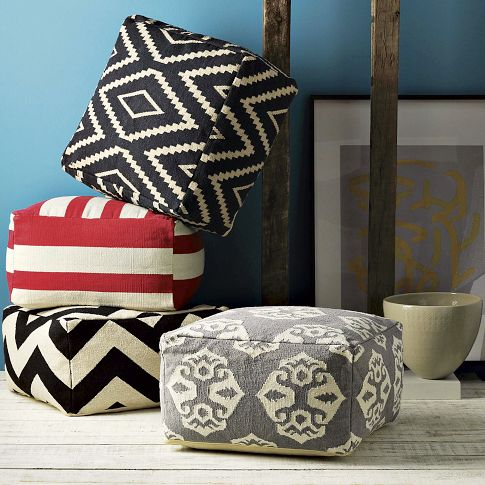 A Few Months Ago I Saw These Cute Floor Poufs From West Elm: