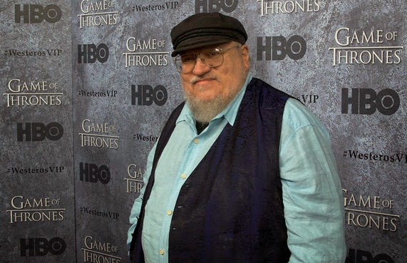 George R.R. Martin writes 'Game of Thrones' on a DOS Machine