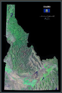 State of Idaho Map, Idaho satellite map, great state of idaho, iii pioneer project, iii citadel, iii percent patriot