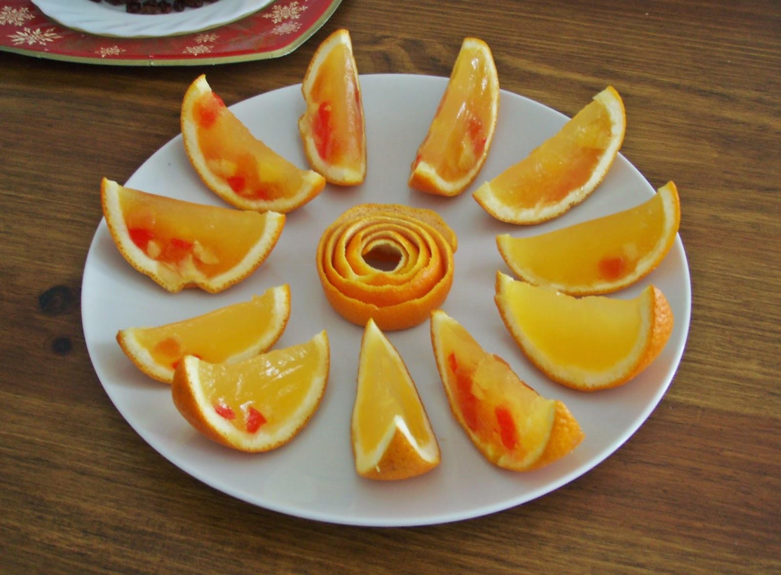 El tiempo entre cucharas naranja de gelatina - Cuchillos para decorar fruta ...
