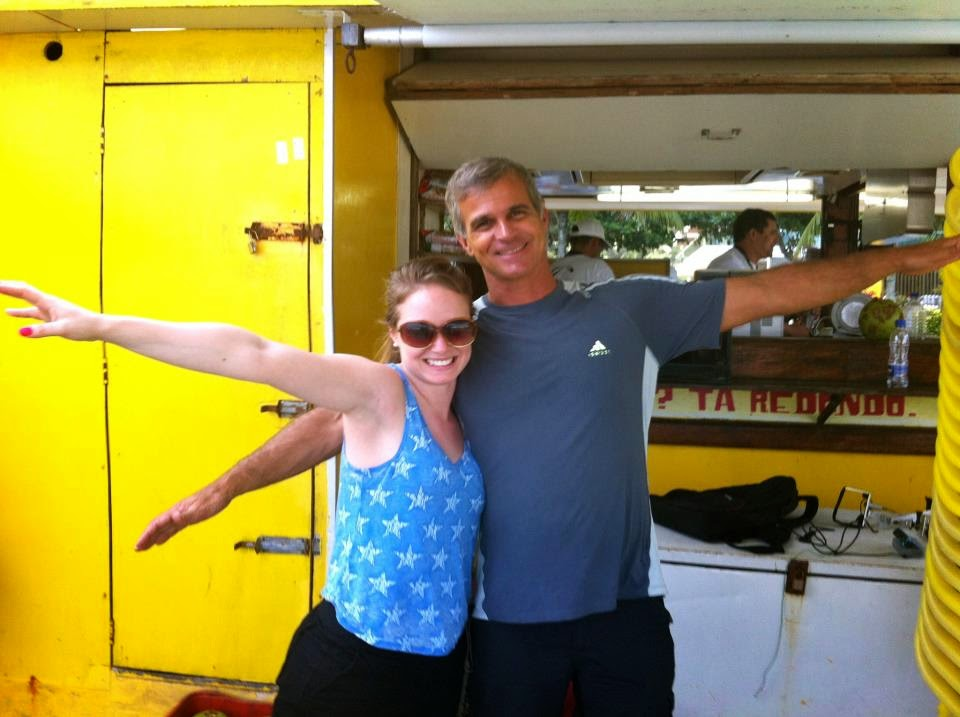 Me with my hang gliding instructor Ronnie in Rio De Janeiro