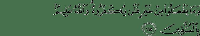 Surat Ali Imran Ayat 115