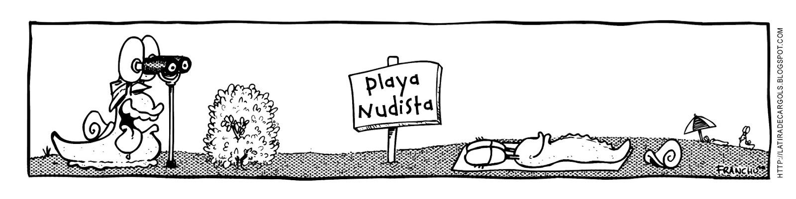 Tira comica 130 del webcomic Cargols del dibujante Franchu de Barcelona