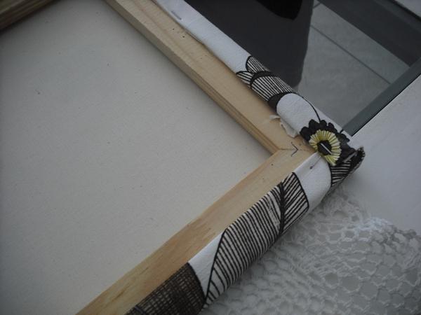 passo a passo de telas encapadas com tecido