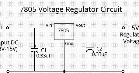 simple 7805 voltage regulator circuit wiring radar 12 volt regulator circuit diagram circuit diagram of 7805 voltage regulator #36
