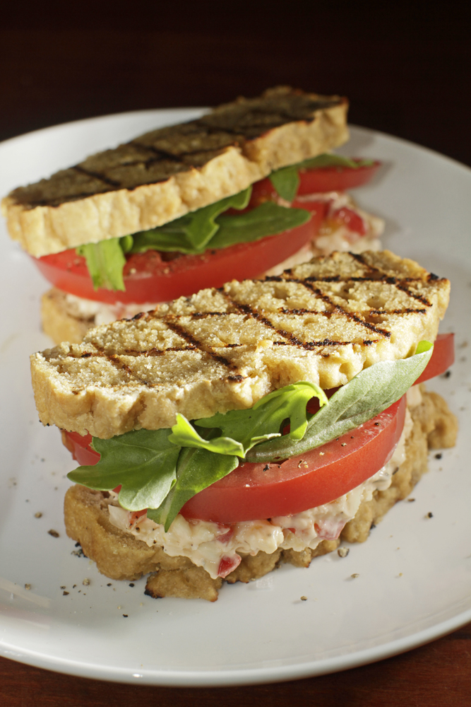 The Chubby Vegetarian: Grilled Beer Bread Pimento Cheese Sandwiches ...