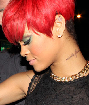 Rihanna Tattoos on Jewelry  Fashion And Celebrities  Rihanna Tattoos