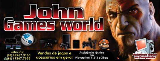 JOHN GAMES WORLD - ASSISTÊNCIA TÉCNICA EM VÍDEO GAMES EM GERAL!
