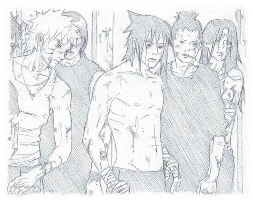 sketch : Konoha Fight Club por nami86