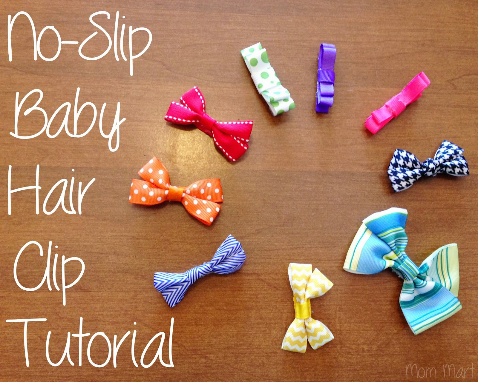 DIY baby hair clips with a no-slip grip, #DIY #Tutorial #Homemade #HairBow