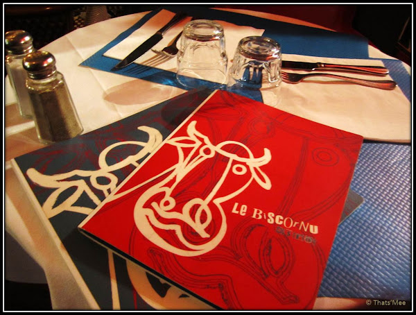 Carte Menu Restaurant Le Biscornu Paris 2ème rue Montmartre