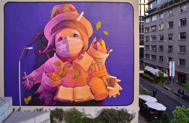 Two New Murals By Chilean Artist INTI in Santiago de Chile For The Hecho En Casa Street Art Festival. 2