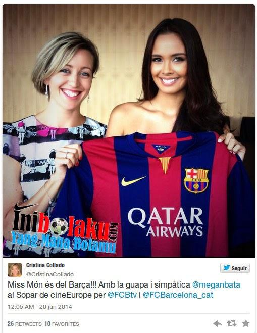 Miss World Megan Young Ternyata Adalah Fans Barcelona