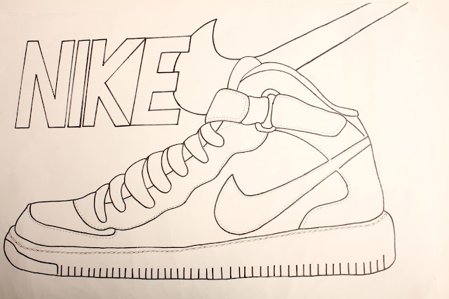 how to draw the nike symbol