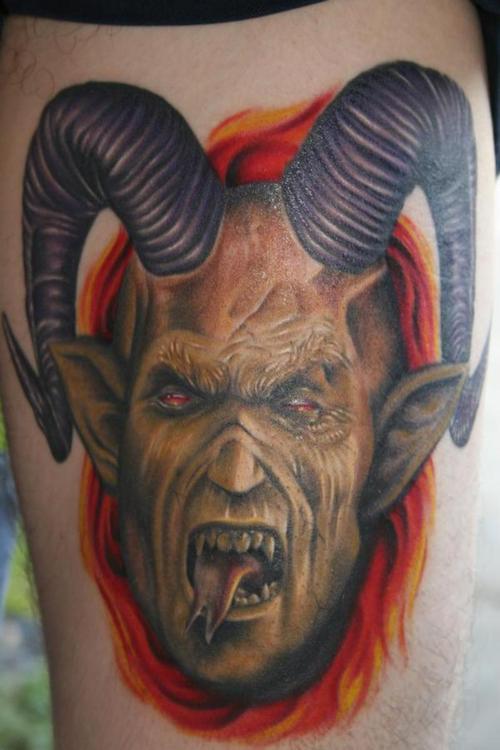 el demonio en los tatuajes simbolismo y dise os belagoria la web de los tatuajes. Black Bedroom Furniture Sets. Home Design Ideas