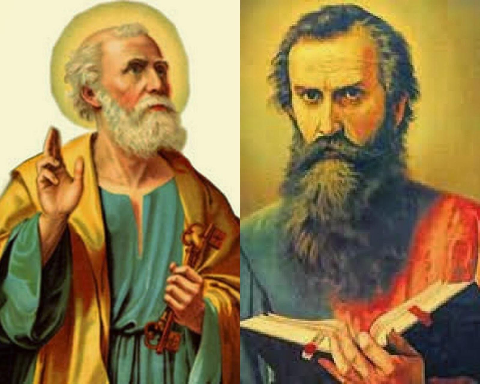 Resultado de imagem para Pedro e paulo evangelistas