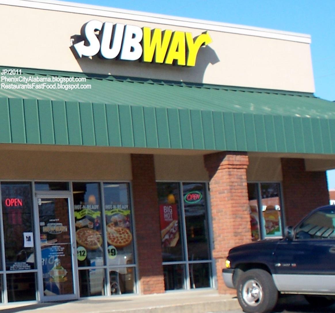 Subway Subs Phenix City Alabama Us Hwy 280 Submarine Sandwich Restaurant Al Hoagies