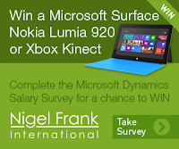 Link to start the Microsoft Dynamics Salary survey