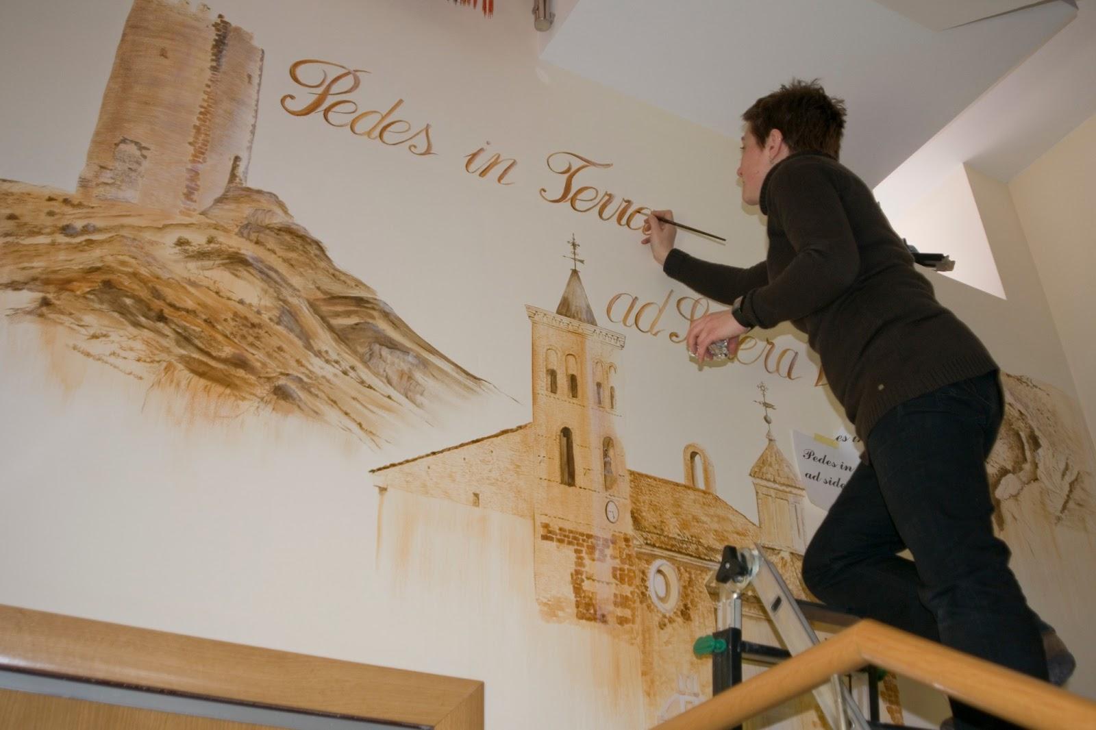 Murales decorativos trabajos murales - Murales pintados a mano ...
