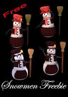 Snowmen Freebie PNG Tubes