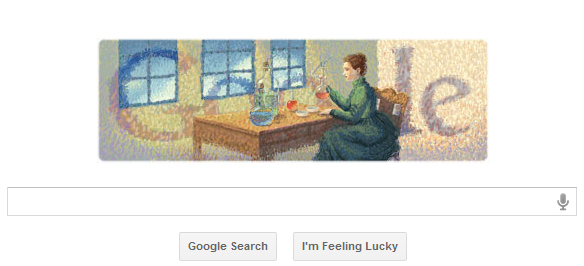 Marie Curie's 144th Birthday, Google Doodle, marie curie wikipedia