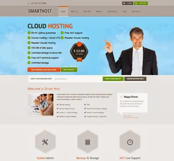 Smart Host Responsive WordPress theme