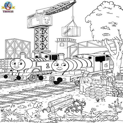 Art free to print railroad art representations Thomas and friends scenery illustrations for coloring