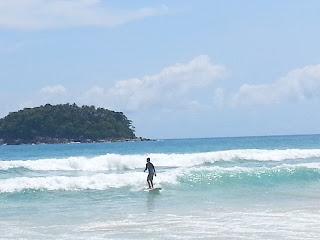 Phuket surfing at Kata Beach in June