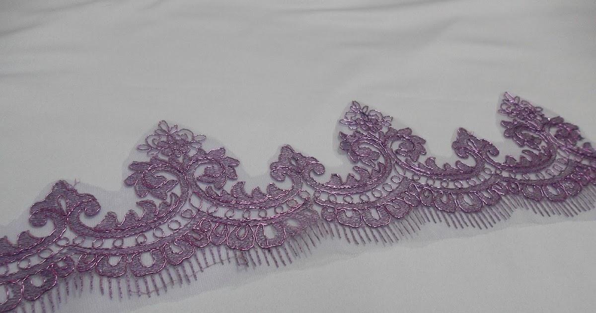 Yana halim border lace penyeri baju for Border lace glam