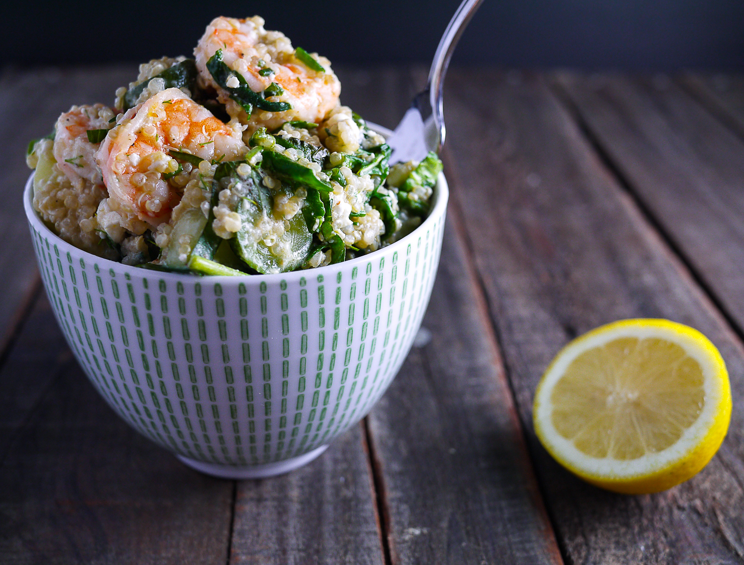 Barbells and Bellinis: Shrimp Quinoa with Fresh Herbs ...