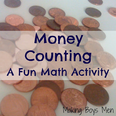 Money counting math activity for kids