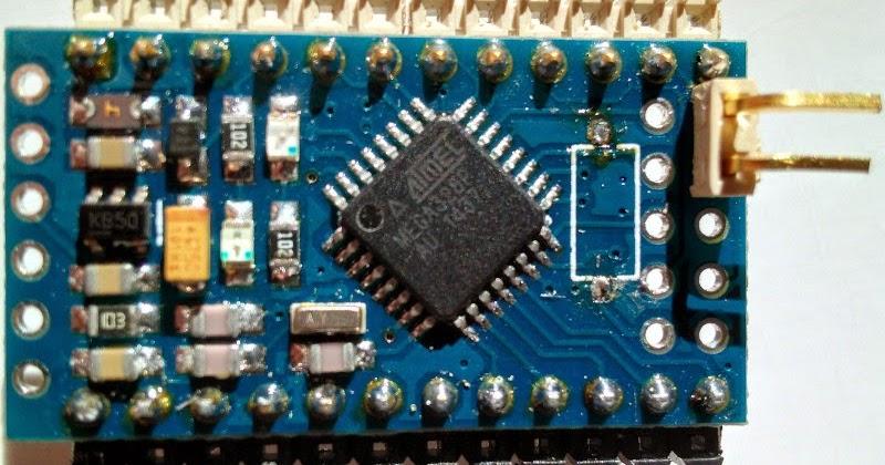 Projectos caseiros mais um clone do arduino pro mini