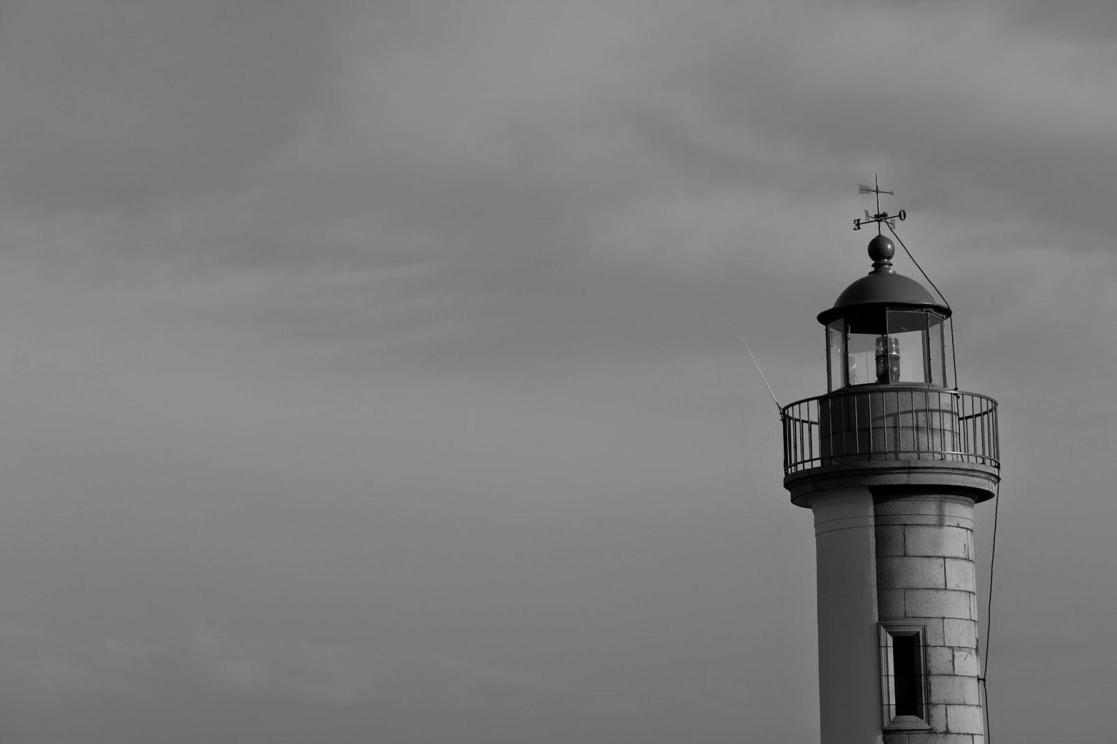 Phare breton en noir et blanc