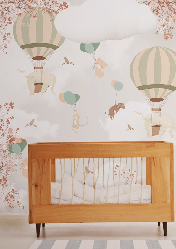 Little hands little hands wallpaper mural falling for Carta da parati cameretta bambina