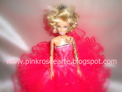 Barbie Tatuada Customizada Pink Rose