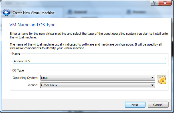 VirtualBox - Create Android 4.0 Ice Cream Sandwich ICS